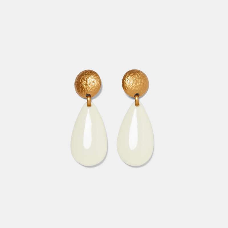 Hot Sale Vintage Resin Water Drop Earring For Women Boho Big Teardrop Statement Dangle Earring Party ZA Jewelry Gift Wholesale
