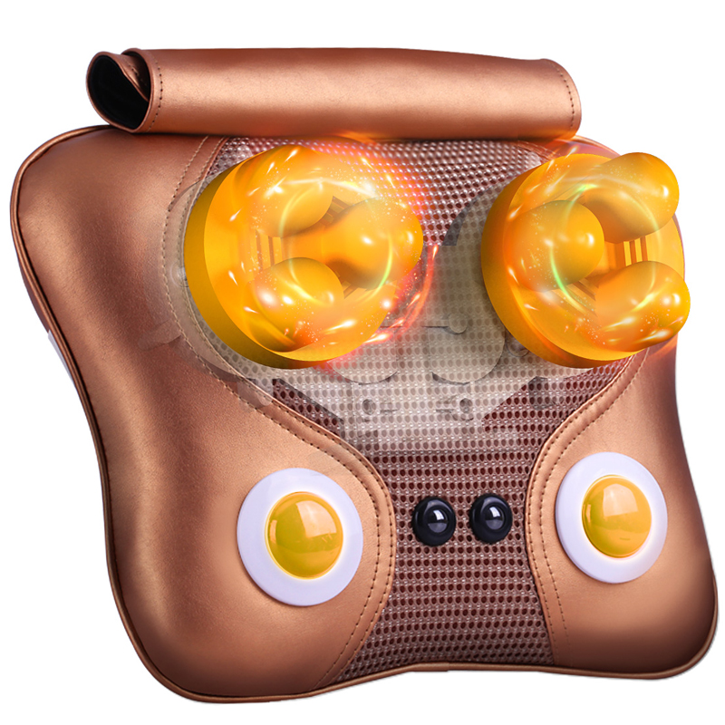 ФОТО Massage Pillow Cervical  Waist Cushion Household Massage With Box Neck Massager Infrared Heating Health Care Therapy Instrument