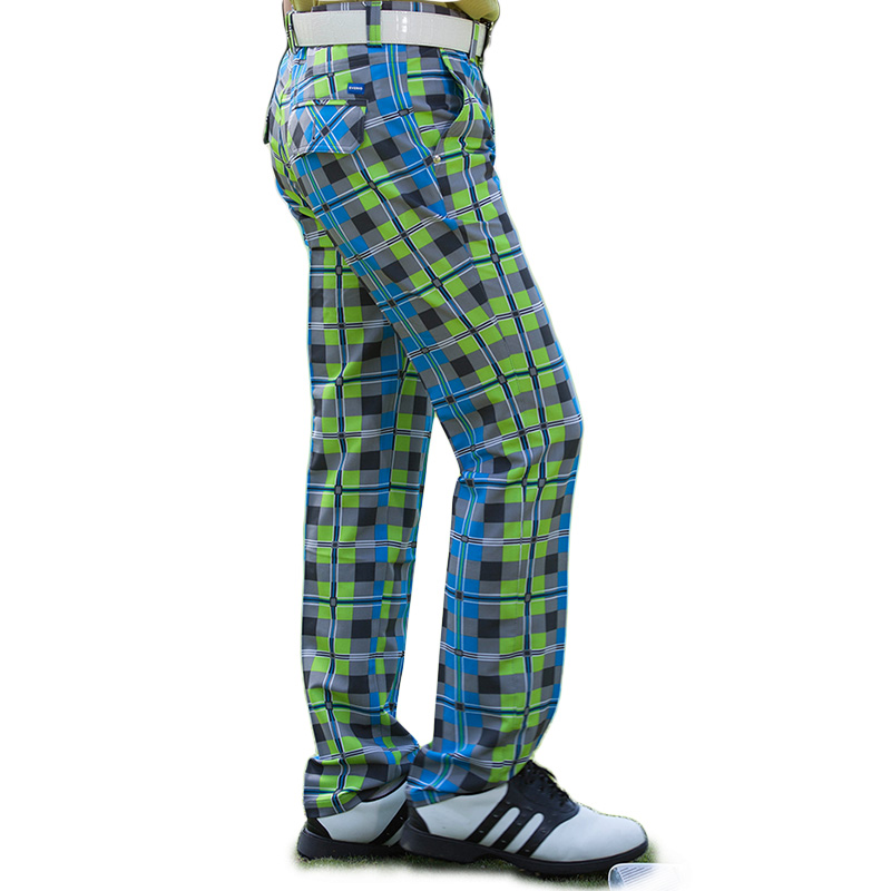 2017 golf trousers men sport pants summer breathable male plaid trousers quick-dry easy care slim outdoor training sportswear цена