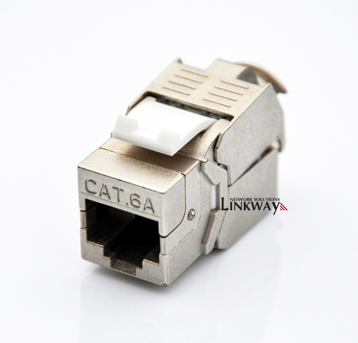 (24pcs a batch) 10g network cat6a (cat 6a class ea) rj45 shielded keystone  jack network connector also suitable for cat7 cable-in computer cables