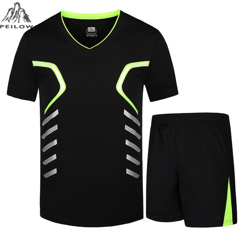 PEILOW Men Tracksuit Summer Shirts+Short Fashion Men's Sets Casual Tees&tops Male T Shirt Sportsuit Brand Clothing Size M~9XL