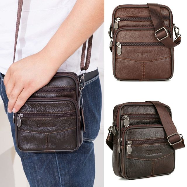 Fashion Leather Men Shoulder Bag Casual Business Mens Messenger Bag Vintage New Men's Crossbody Bag Packs Phone Pouch sac a main | HOTSHOPDIRECT