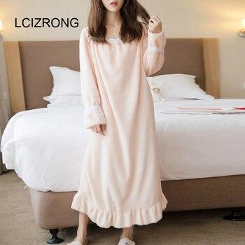 Autumn Sweet Flannel Sleepwear Dress