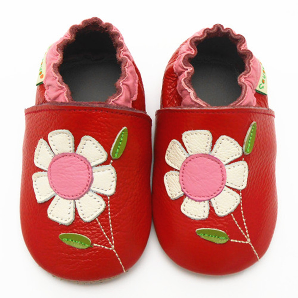 Sayoyo 2016 Fashion Baby Leather Moccasins Flower Printed Girl Shoes Soft Newborn Infant Shoe First Walkers - Store store
