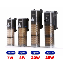 4 In 1 Internal Aquarium Filter Pump Fish Tank Multifunction Water Pump Aerator Wave Maker Water Circulation Filter