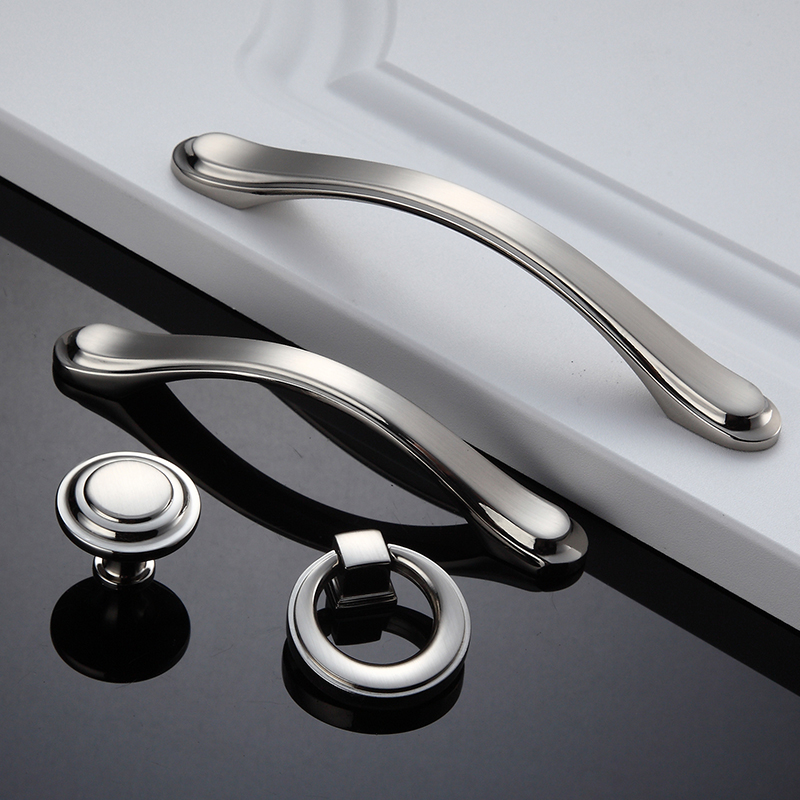 1PCS Drawer Cabinet Handle Zinc Alloy Bathroom Wardrobe