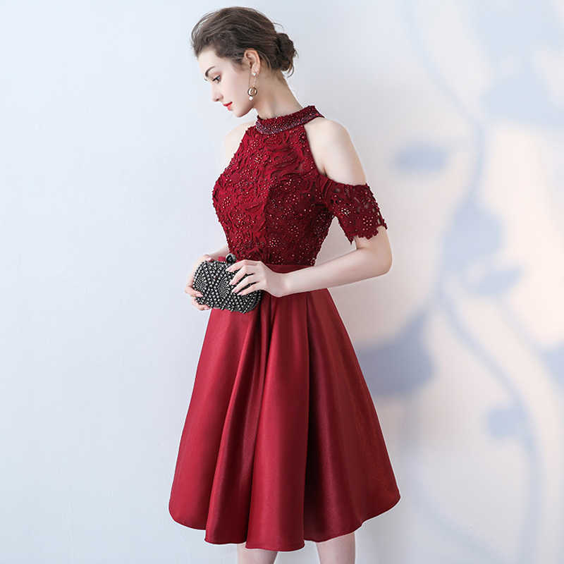 ... Celebrity Dresses vestido de festa 2018 Plus Size New Vintage Half  Sleeve Lace Pearls Red Carpet ... 936f2f1d40d9