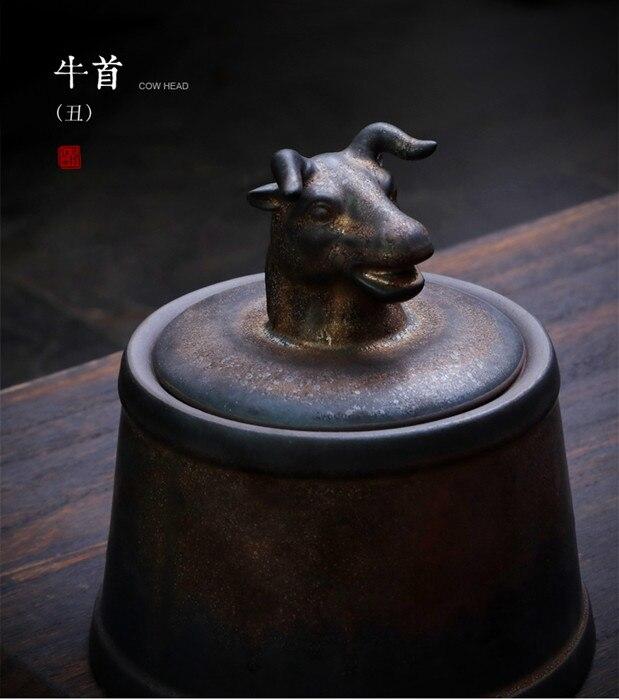 Прах питомца кремации держатель урны собака в память о кошке шкатулка животное на память о похоронах Hond 500 г большой емкости свинья лошадь OXCaskets - Цвет: Cow Head