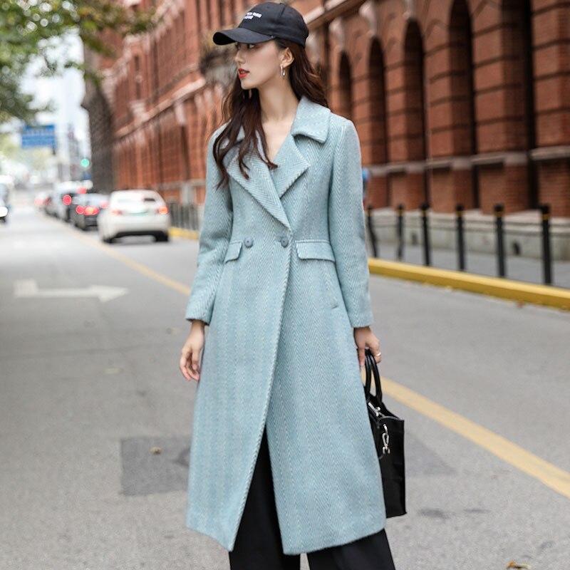 Laine Sully Color White ga Long Moyen Femmes Blue Manteau De Hernie D'alpaga 2019 And En Et Nouveau aUxnqSwE