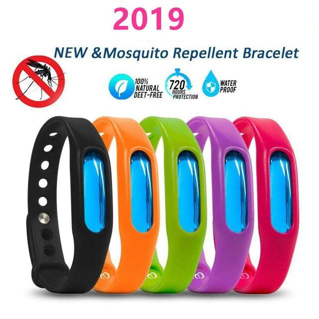 Bracelet répulsif de moustiques colorés