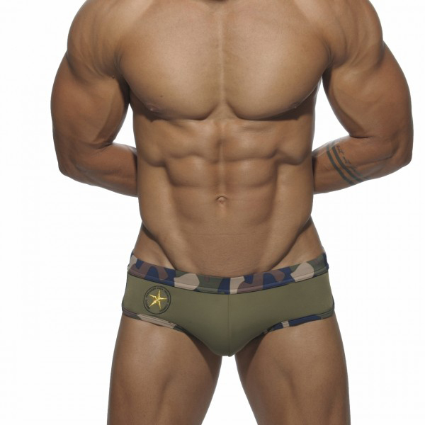 sexy men low rise swimwear men's swim briefs male camouflage bikini swimsuit gay bathing trunks swimming shorts Surfing shorts
