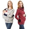 Новинка 2018  Одежда для беременных женщин  топы в горошек для беременных  футболка с капюшоном  зимняя футболка для кормящих матерей  осенняя ...