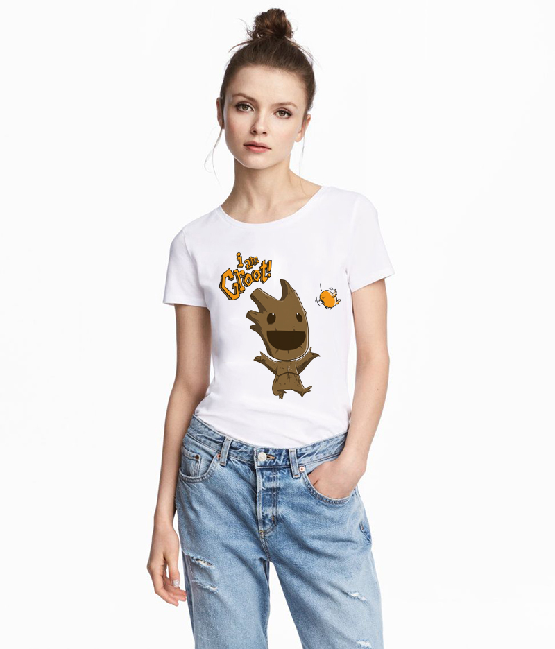 Newest Groot Tshirt Women Funny Printed I Am Groot T Shirt Guardians of The Galaxy Women T-shirt Baby Groot T Shirts Female