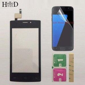 Image 2 - Pantalla táctil móvil de 4,0 pulgadas para Tele2 mini pantalla táctil de cristal, digitalizador, lente de Panel de vidrio frontal, película protectora del Sensor
