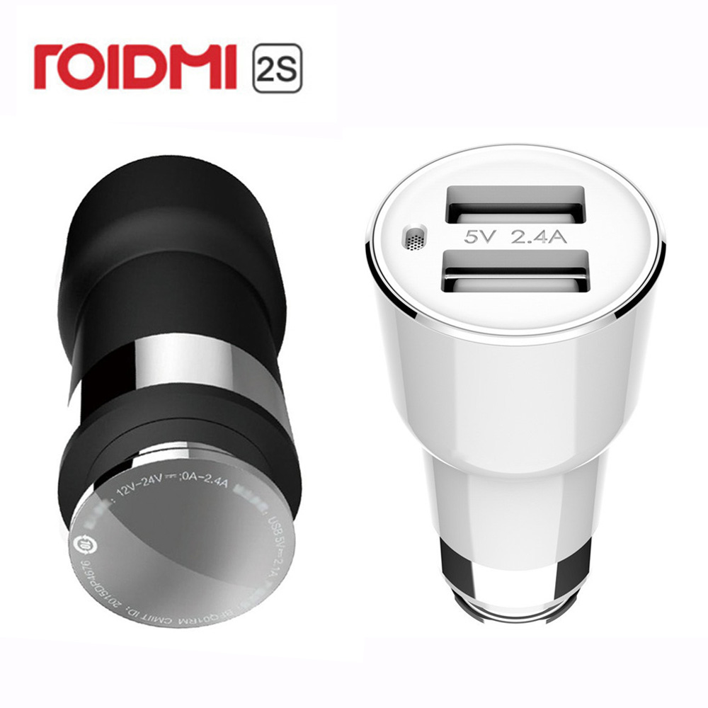 Xiaomi ROIDMI 2S Bluetooth Car Charger Hands Free Call With Mic for iOS & Android APP Monitor Music Play 5V 3.8A Fast Charge