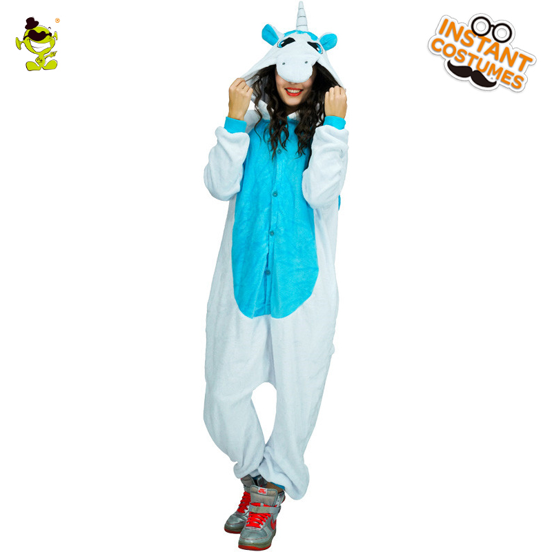 High Quality Unicorn Pajamas Woman Cute Pajamas Costumes Carnival Party Adult Hooded Dress-up Funny Animal Sleepwear for Women