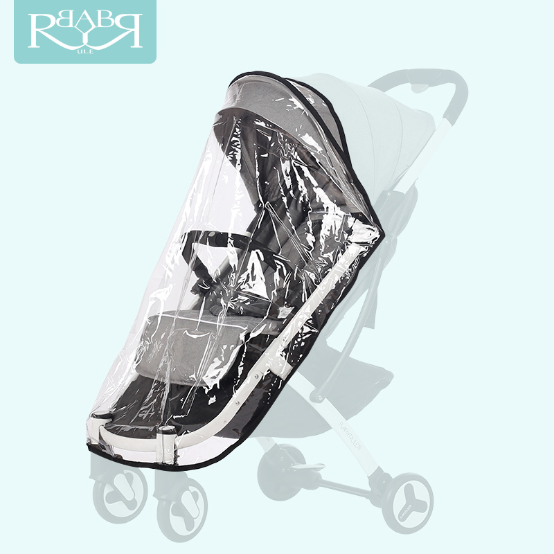 Babyrule Baby Stroller Accessories Universal Waterproof Rain Cover Wind Dust Shield For Strollers Pushchairs stroller Buggy universal baby stroller rain cover baby carriage pushchairs waterproof rain cover stroller accessories wind shield canopies