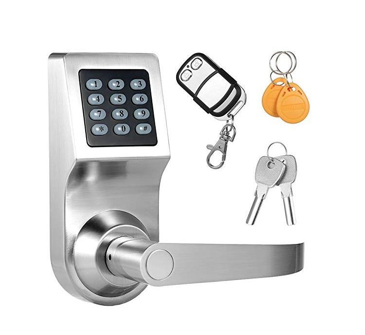 Smart Door Lock Cerradura Electronica Digital Inteligente Remote Control Card Password 4in1 Knob Security Gate Home Office Lock