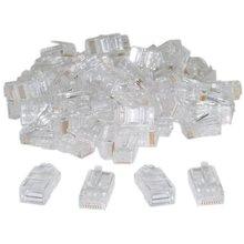 IMC Hot RJ45,8P8C,CAT 5 Transparent Crimp Connector Plug , 100 Pieces Per Bag