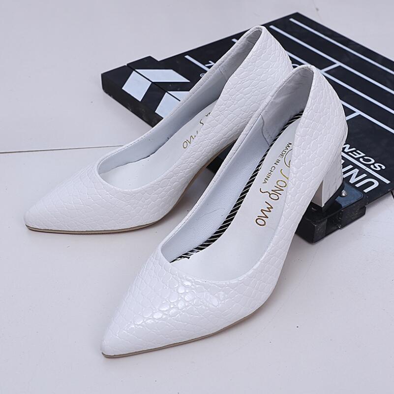 Escarpin Talons 6 Soirée Femme Noir Carré blanc Chaussures Femmes Classiques Blanc À Rose Cm Hauts Wedge Talon Yidi rose De Mariage nqOwYBTtn