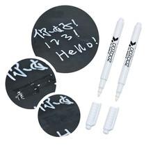 Белый маркер-ручка для доски/маркер Номера для пыли мел для Стекло Windows Классная доска метки для бокалов подарок C26