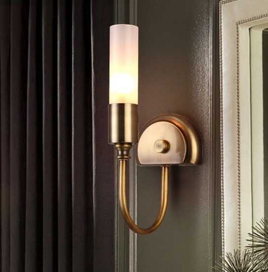 American Village Creative Simple Wall Sconce Bedside LED Wall Lamp Modern Wall Light Fixtures Indoor Lighting Lampara Pared simple modern led wall light fixtures for indoor lighting fashion acrylic wall sconces bedside wall lamps lampara pared