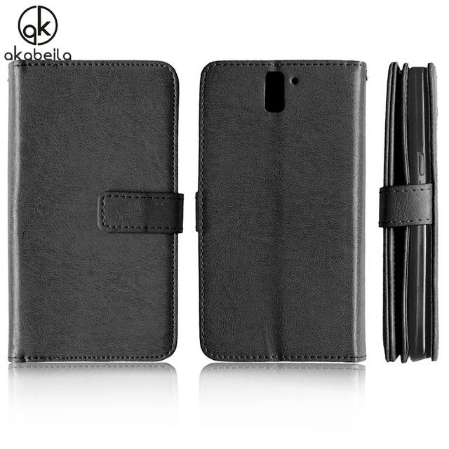 AKABEILA Case Covers For OnePlus One OnePlus1 OnePlus A0001 A1000 A1001 5.5 inch Stand Wallet Style Card Slot Phone Bag Cover