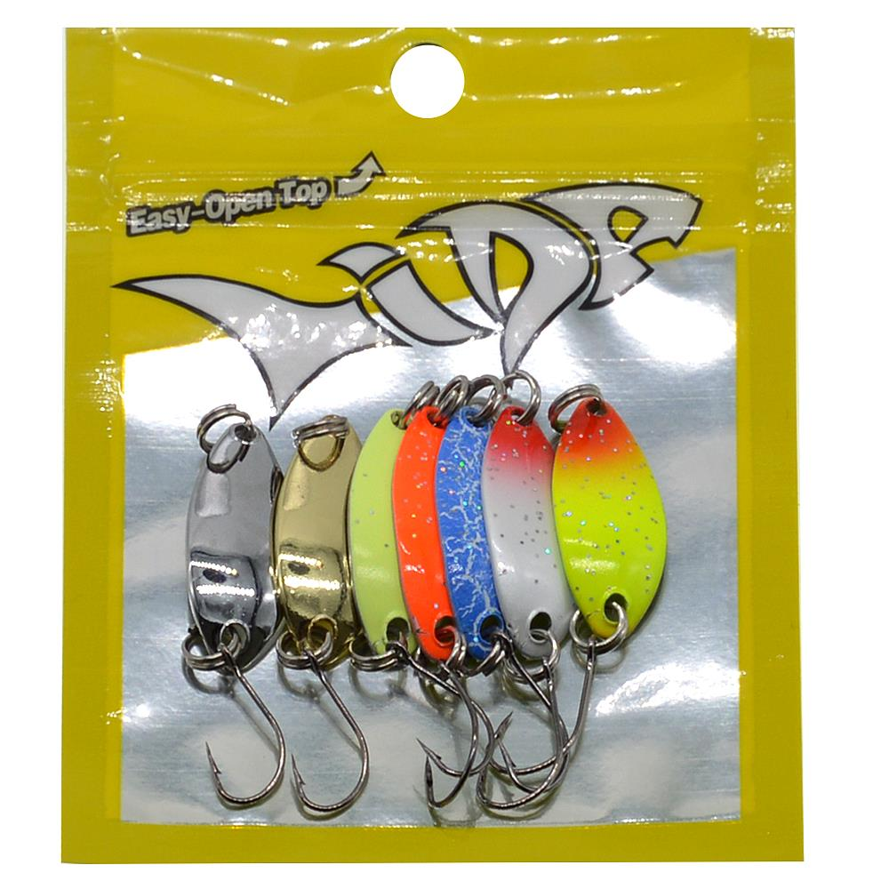 Image 2 - WLDSLURE 7Pcs/lot Fishing Lure Colorful Spoon Bait 2.5g Metal Spoon Fishing Lure For Trout Single Hook-in Fishing Lures from Sports & Entertainment