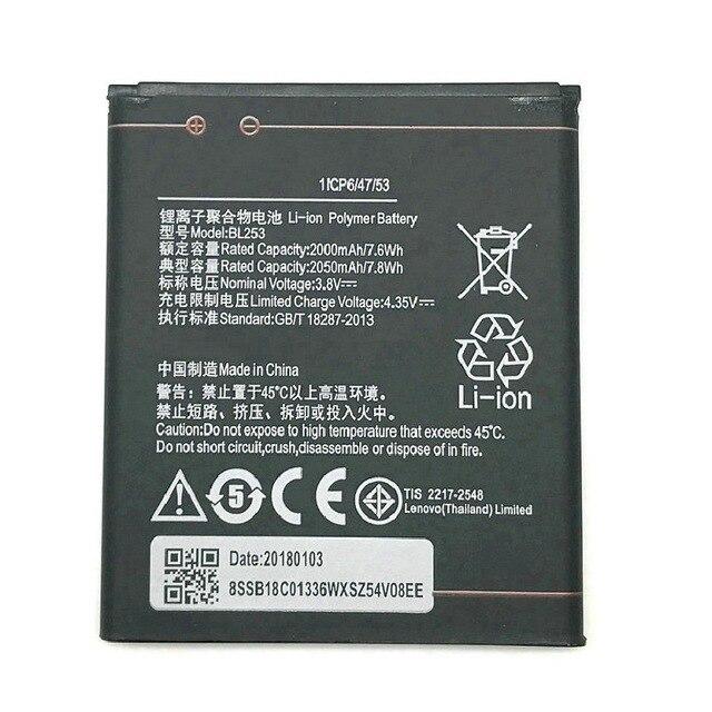 2050 mah BL253 Pin Cho Lenovo A2010 Pin MỘT 2010/BL 253 BL-253 A1000 A1000m MỘT 1000 A2580 Di Động điện thoại