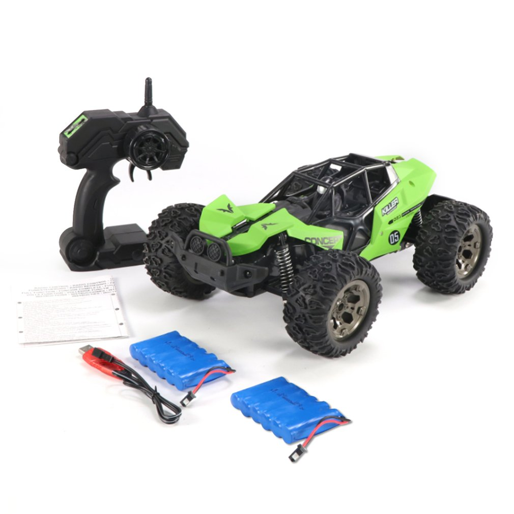 DEER MAN 1:12 Cross Country Vehicle 25KM/H 2 Batteries Remote Control Model Off-Road Toy 2.4GHz RC Climbing Car