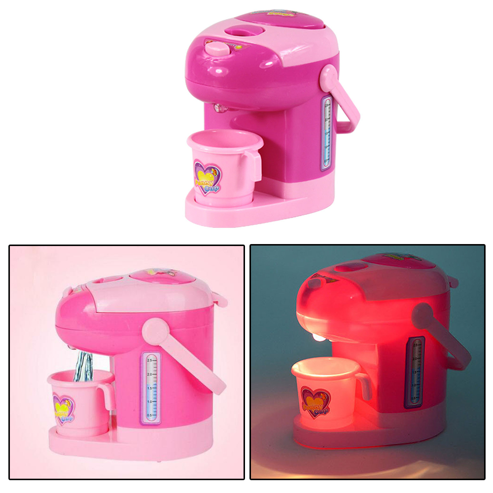 Battery Operated Mini Electric Water Dispenser Toy Girl's Play House Kitchen Toy Pretend Play Toy