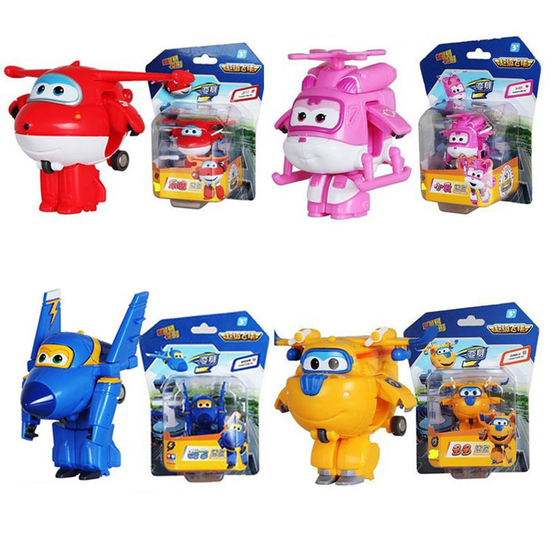 Robot Toy Transformation-Toys Super-Wings Action-Figures Mini ABS Children Gift Airplane