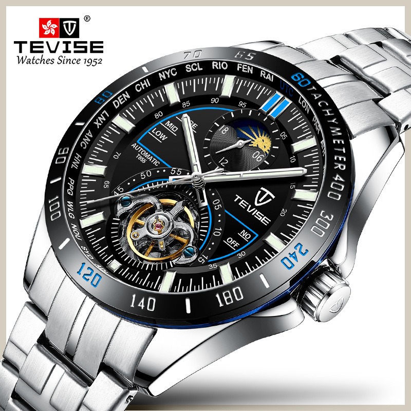 Tevise Mens Automatic Mechanical Watches Waterproof Watch Men Top Brand Male Sport Self Winding Wristwatch Relogio MasculinoTevise Mens Automatic Mechanical Watches Waterproof Watch Men Top Brand Male Sport Self Winding Wristwatch Relogio Masculino