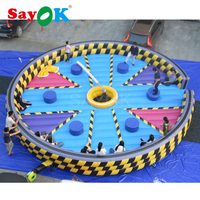 Customized large inflatable meltdown game inflatable wipeout game for adults
