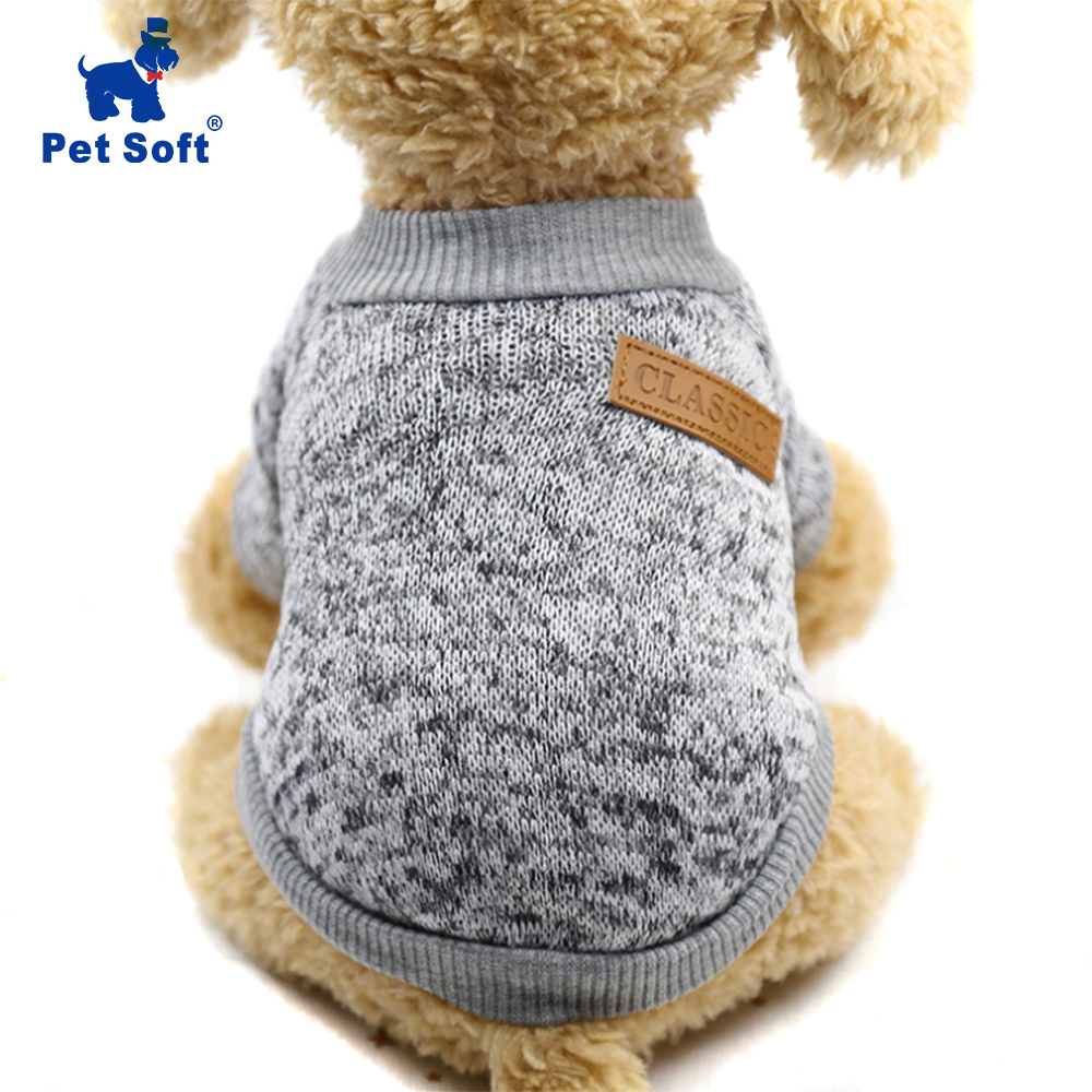 Pet Soft Pet Dog Clothes For Small Dogs Winter Warm Coat Classic  Sweater Fleece High-grade 8 Colors Sweater Christmas Clothing