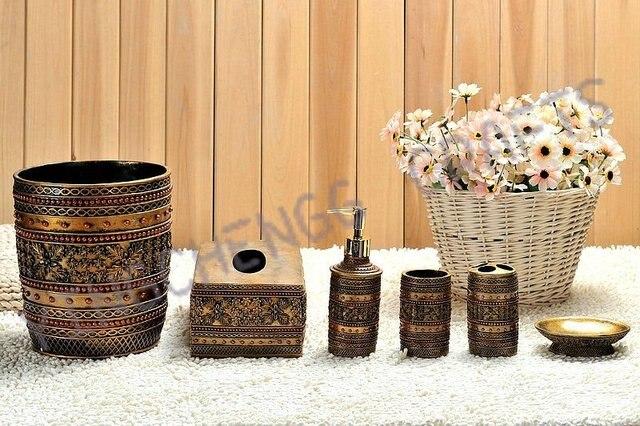 High quality ceramic bathroom six piec set to newly marry gift ...