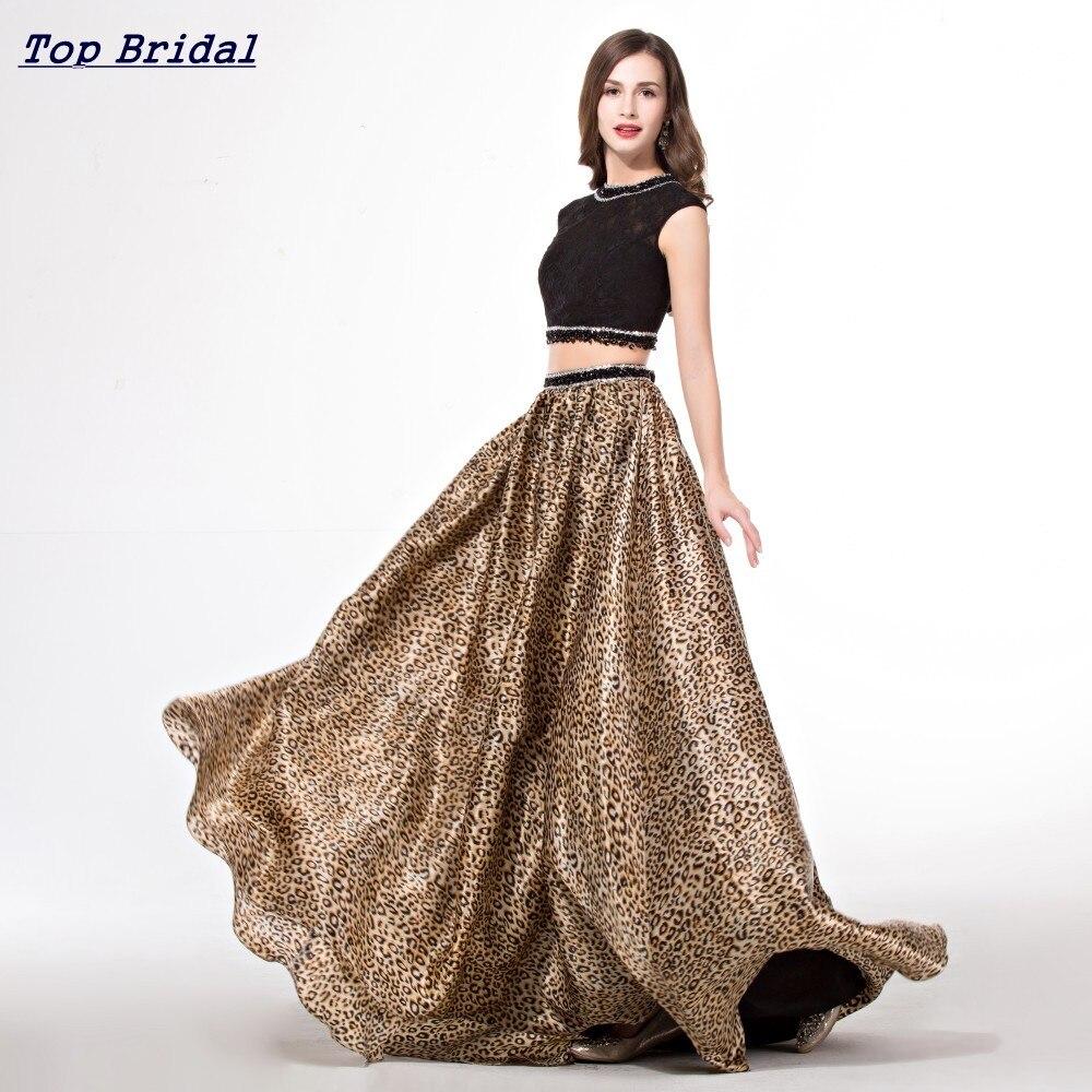 Popular Leopard Prom Dress Two Piece-Buy Cheap Leopard Prom Dress ...