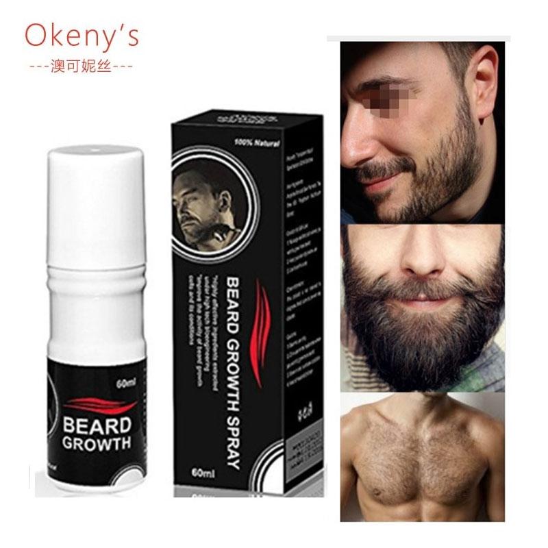 Hair Loss Original Beard Growth Spray 60ml Beard Grow Stimulator 100% Natural Accelerate Beard Growth Oil Facial Hair Grower