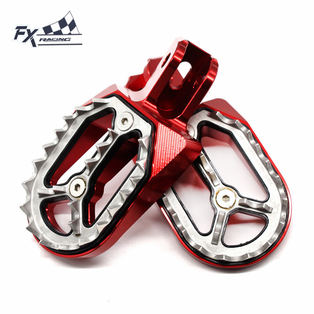 Aluminum CNC Motocross Dirt Pit Bike Foot Peg Pedal Footpegs Footrest For Honda CRF230 CRF230F CRF 230 2003   2017 2004 2005-in Foot Rests from Automobiles & Motorcycles    1