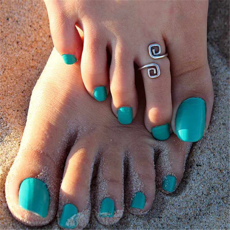 2018 Fashion Beach Foot Ring Toe Unique Vintage Silver Foot Rings For Women Jewelry For Women Retro Luck Number 8 Ring  8RD7