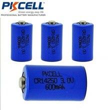 4 UNIDS PKCELL Batería CR 1/2AA 3 V 600 mah CR14250 14250 CR-1/2AA 3 Voltios de Litio batería Baterías(China (Mainland))