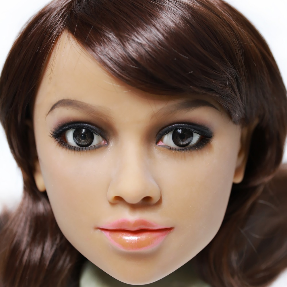 2017 Newest Top Quality Head 64# Big Doll's Head Tan Skin Sex Doll Head for Silicone Sex Doll Suitable For More Than 140cm Doll 2017 newest top quality head 56 big doll s head tan skin sex doll head for silicone sex doll suitable for more than 140cm doll