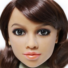 2017 Newest Top Quality Head 64# Big Doll's Head Tan Skin Sex Doll Head for Silicone Sex Doll Suitable For More Than 140cm Doll