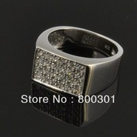 925 Sterling Silver CZ Diamond Ring for Men Vintage Jewelry Crystal Anel Masculino Joias Engagement Wedding Rings bague homme