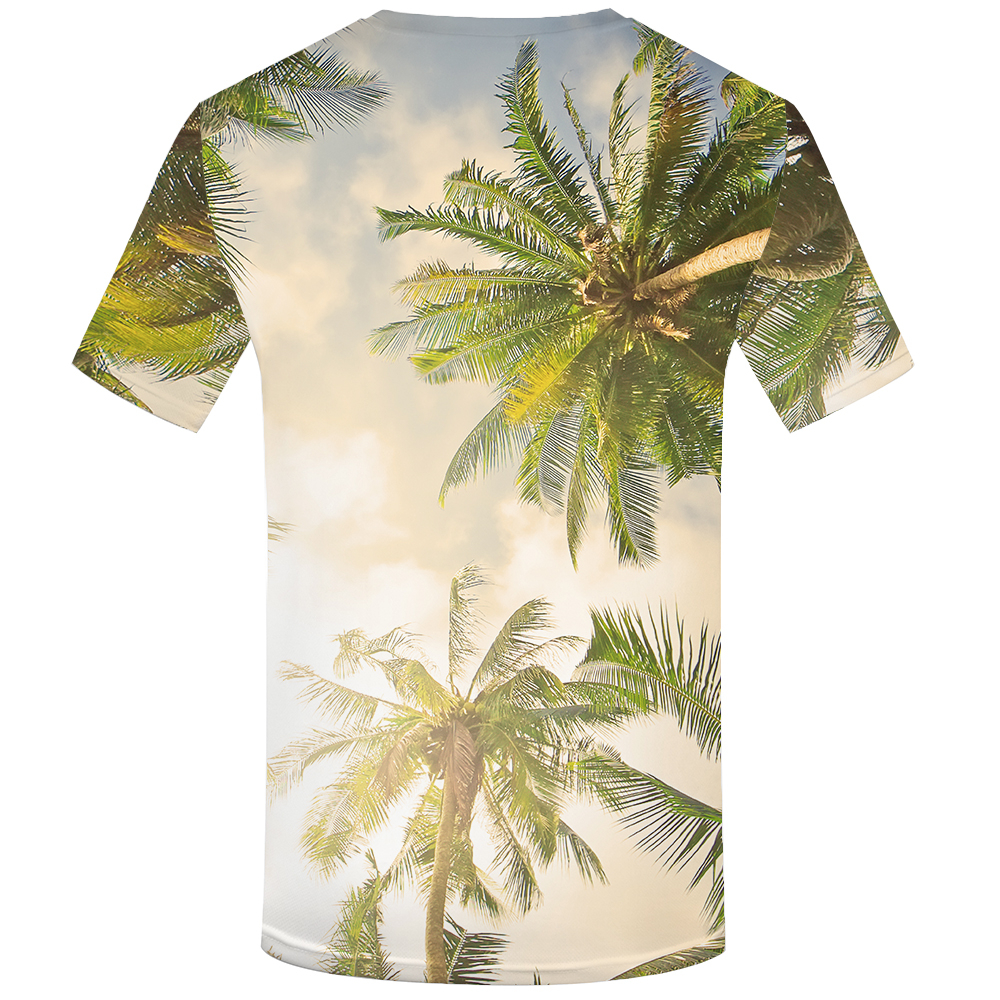 KYKU Brand Coconut Shirt Sunlight Beach Shirts Hawaii Clothes Tshirt Mens 3d T shirt Men Hip hop Clothing Casual Wear 2018 New in T Shirts from Men 39 s Clothing