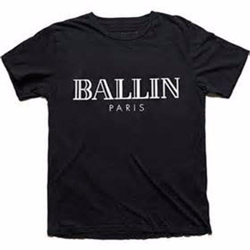 HTB1divqMXXXXXbraXXXq6xXFXXXJ - Women Top Printed Summer Letter Ballin Paris Tee Shirt