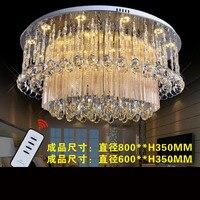 Светодиодный потолок кристалл лампы круглый светильники Гостиная Crystal Роскошный светильник спальня светодиодный светильник светодиодный