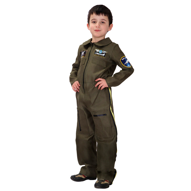 M-XL Kids Boys Special Forces Policeman Pilot costumes Halloween Cosplays for Children Purim Stage performance Carnival dress