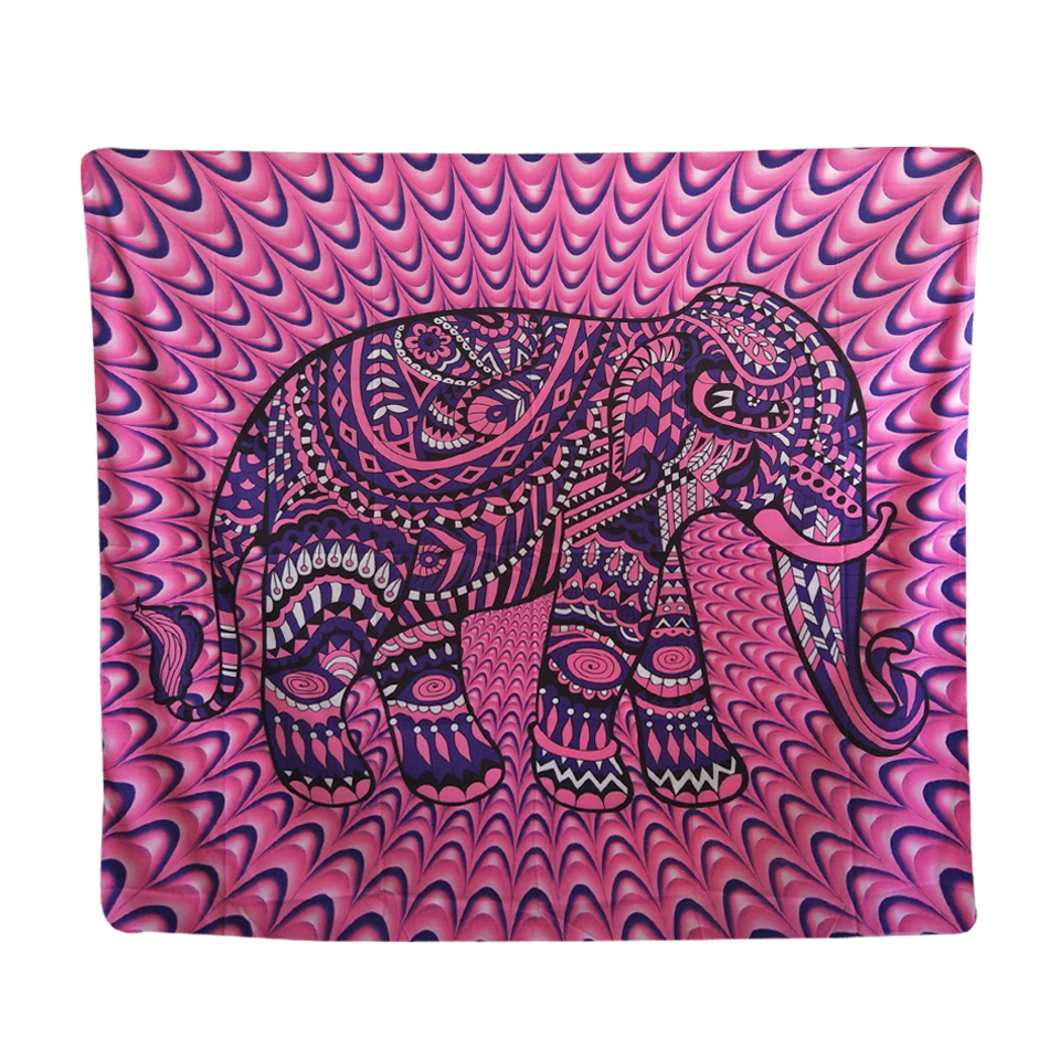 papa y mima indio elefante rosa rojo tapiz tapices tapices mainland