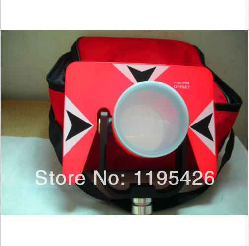 ФОТО (NEW) All Metal Prism Set w/ Bag for total station surveying, RED PRISM
